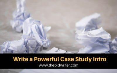 Write a powerful case study intro